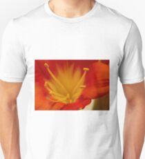 Orange Clivia Lily - Macro T-Shirt