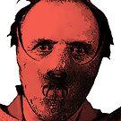 Hannibal Lecter Pop Art Print  by leeseylee