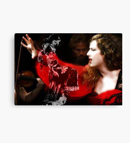 Cantaora & bailaora de Flamenco Canvas Print