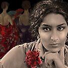 Estrella Morente with a red carnation by Dulcina