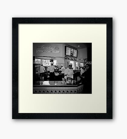 quality you can taste Framed Print