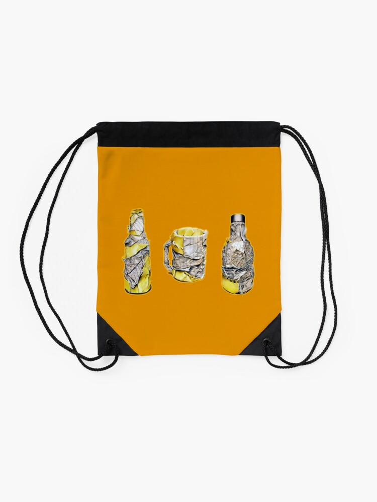Alternate view of Pres (Colour pencil drawing) Drawstring Bag