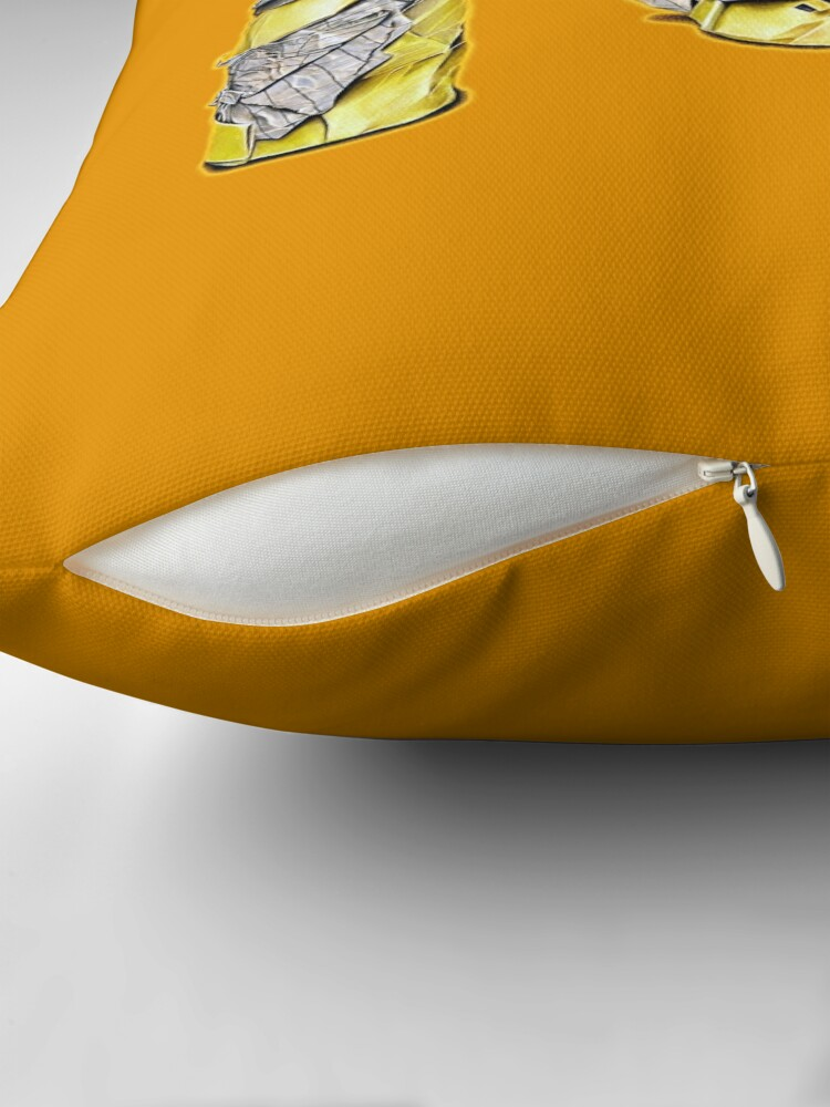 Alternate view of Pres (Colour pencil drawing) Throw Pillow
