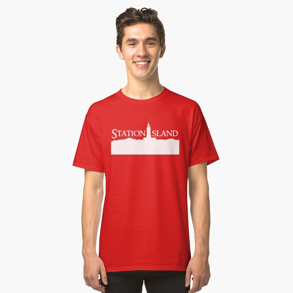 Station Island - Logo White Classic T-Shirt