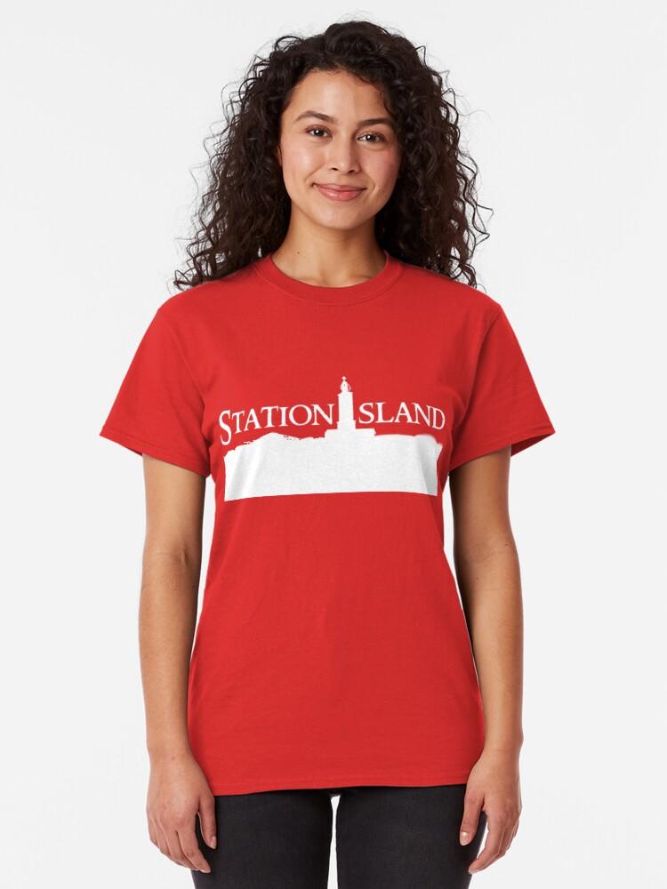 Alternate view of Station Island - Logo White Classic T-Shirt