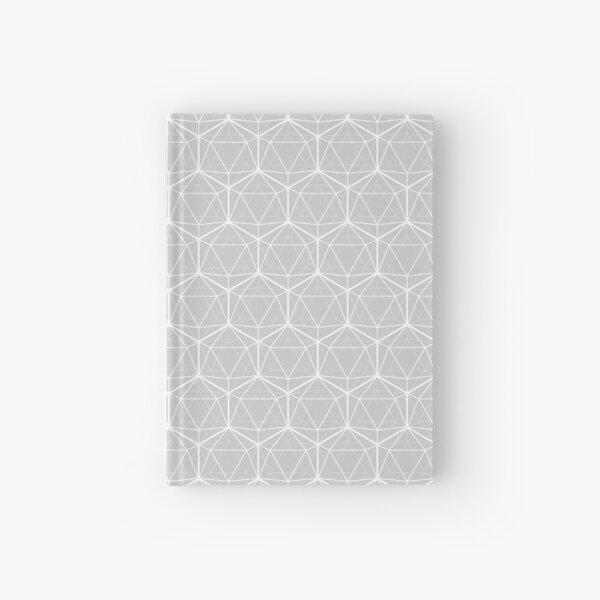 Icosahedron Pattern White on Soft Gray Hardcover Journal
