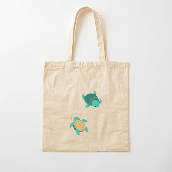 Space Turtles Cotton Tote Bag