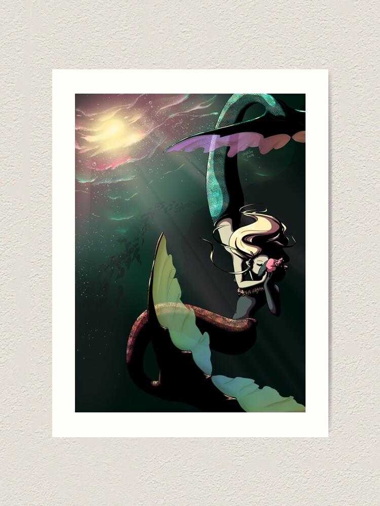 Lamina Artistica Sirenas En El Amor De Emperor Skekso Redbubble