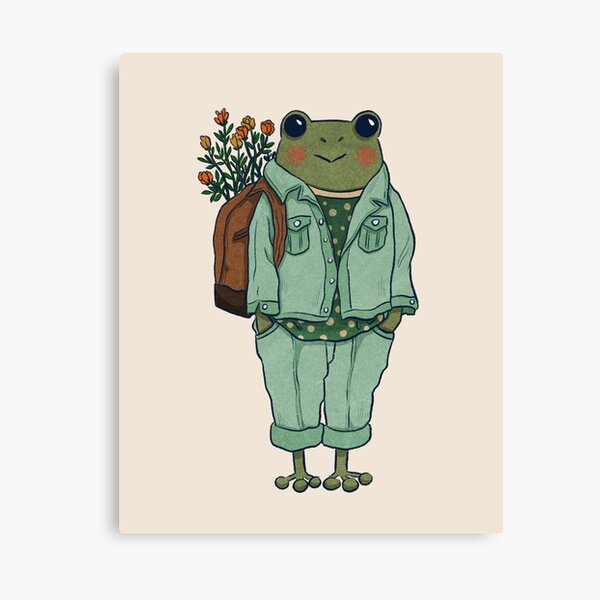 Mr. Frog - Casual  Canvas Print