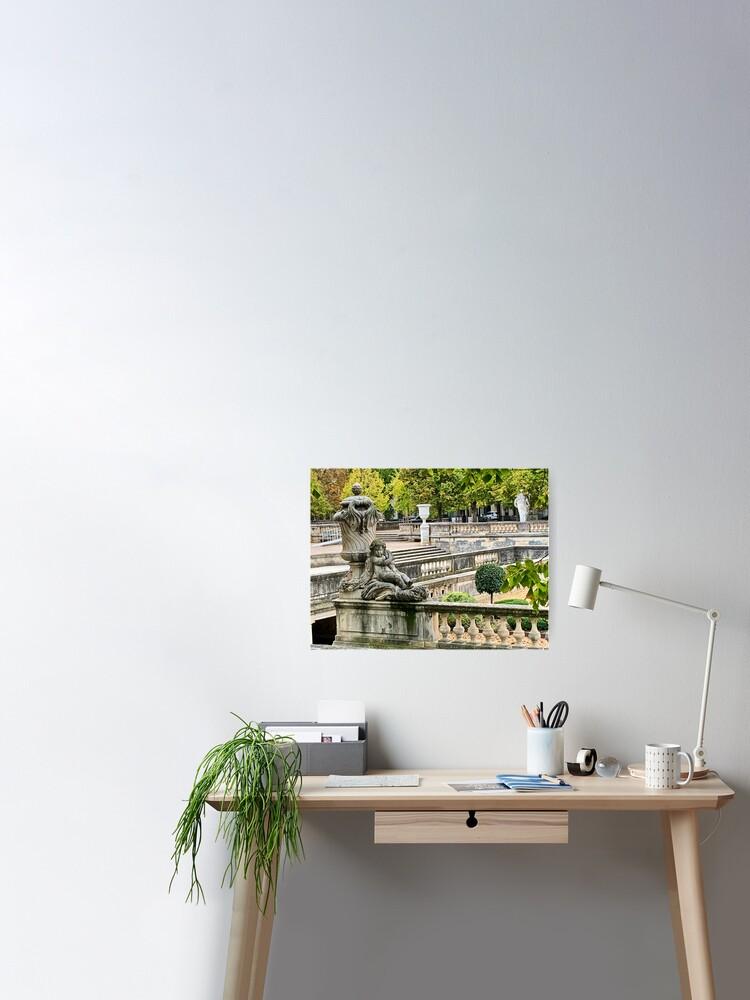 France Jardins De La Fontaine In Nimes Poster By Genuinefrance