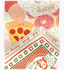 Donut-Pizza-Party Poster