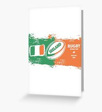 Ireland World Cup Rugby  Greeting Card