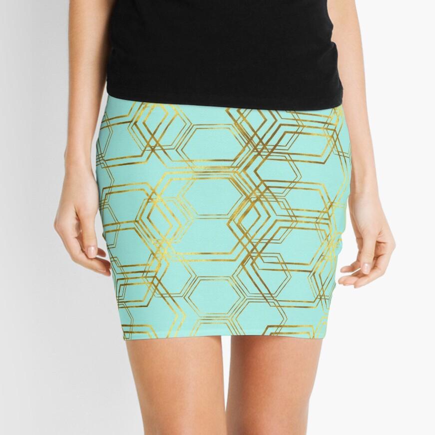 Hexagold Mini Skirt