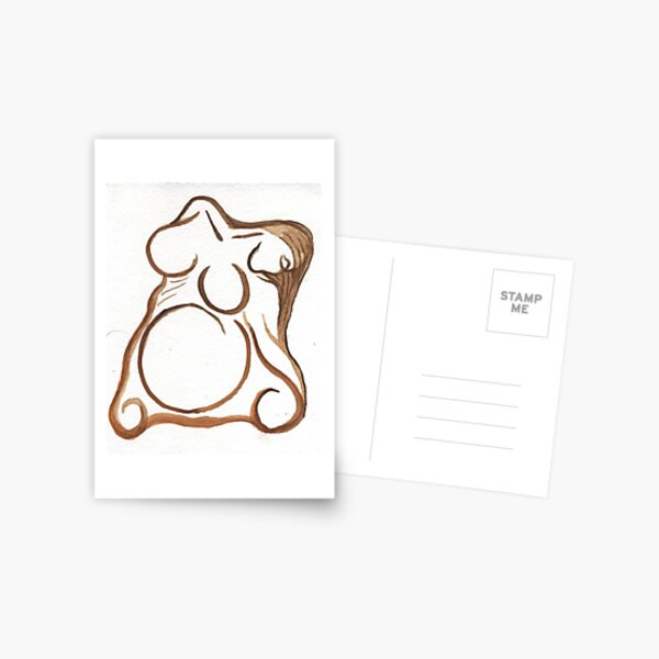 brown abstract goddess Postcard