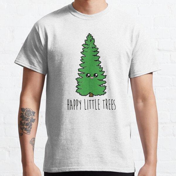 Bob Ross Happy Little Trees Cartoon Tree Classic T-Shirt