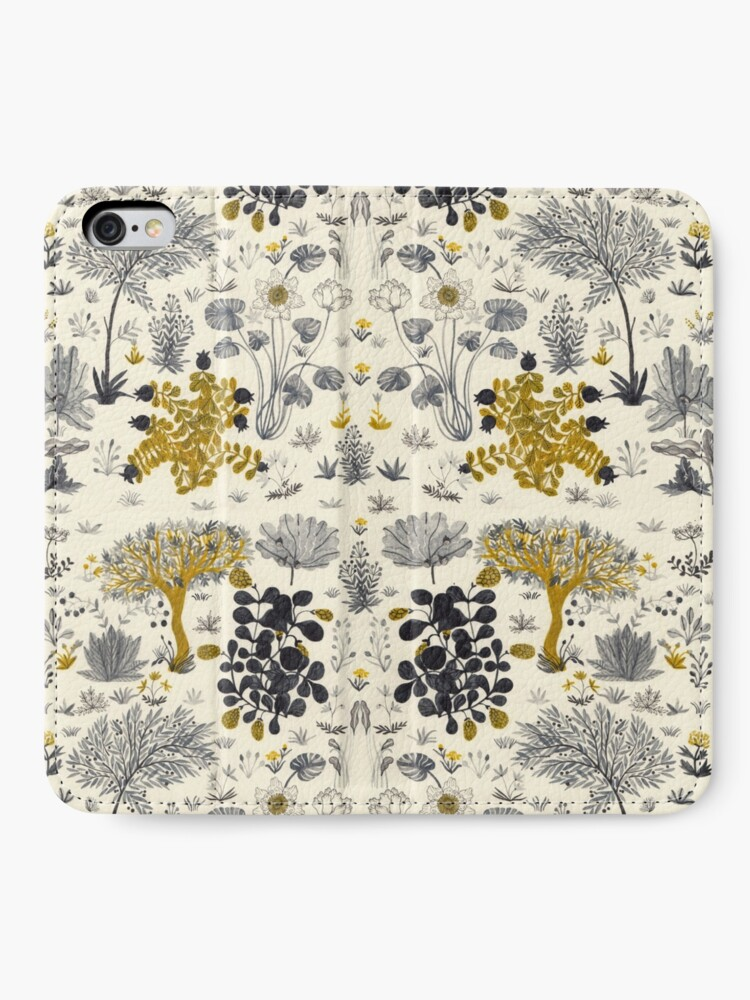 Alternate view of Flowers Poster/ Folar Pattern/Watercolor flower illustration/Floral pattern iPhone Wallet