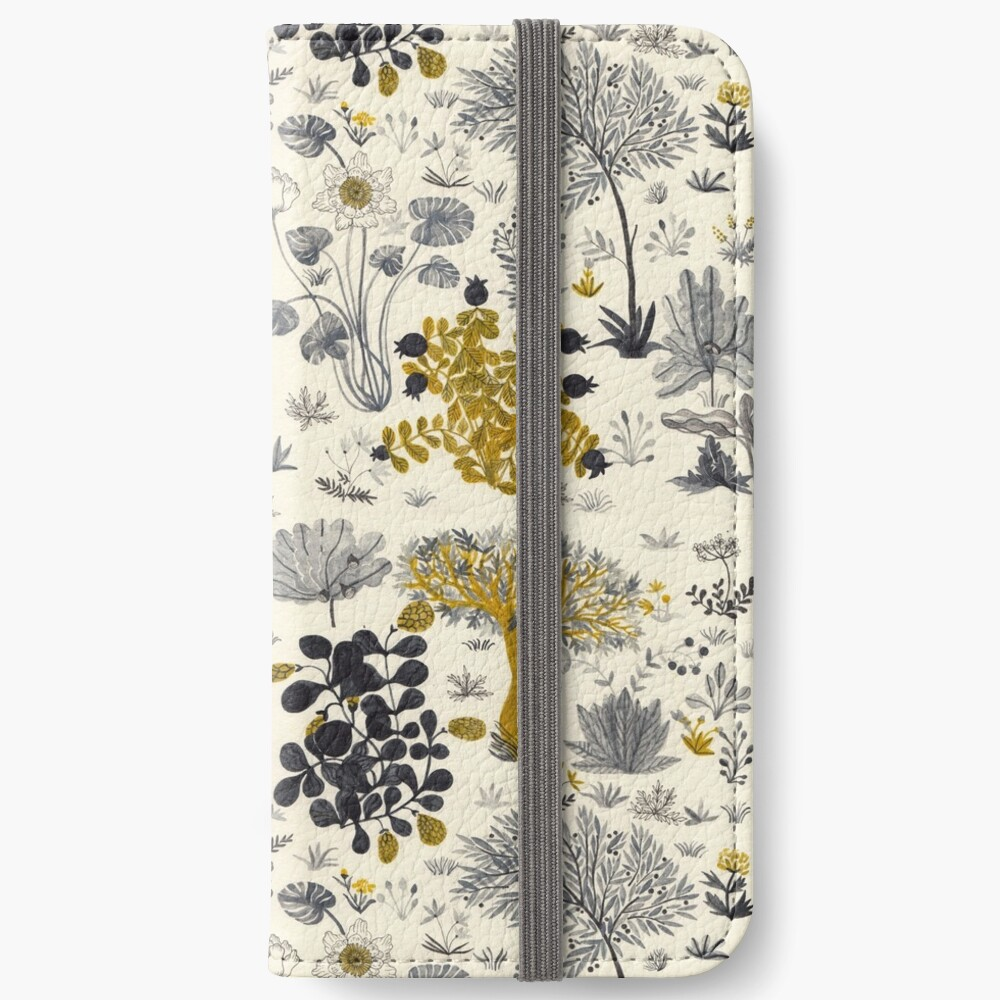 Flowers Poster/ Folar Pattern/Watercolor flower illustration/Floral pattern iPhone Wallet