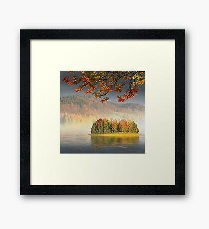 Autumn Island Framed Print