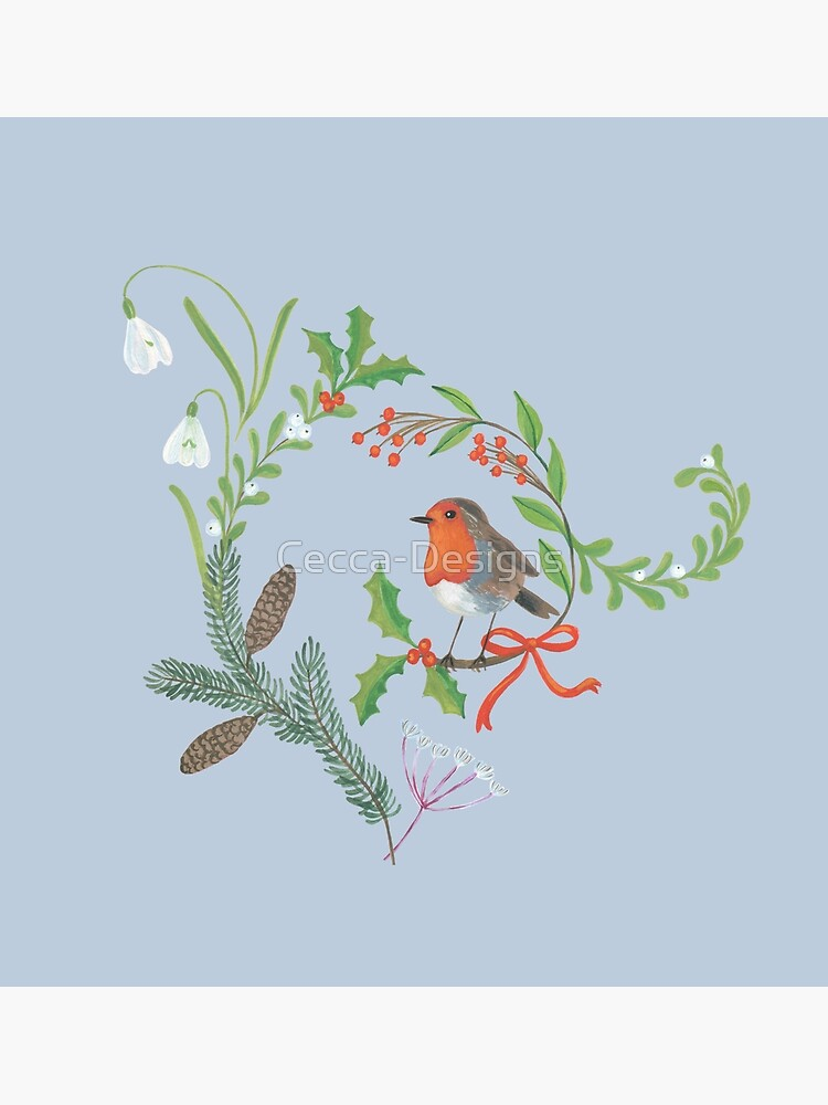 Christmas Chintz with Robin - Traditional chintz by Cecca Designs by Cecca-Designs