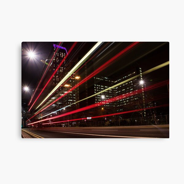 Lightspeed In The City Canvas Print