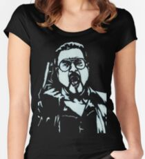 Walter Sobchak from The Big Lebowski Women's Fitted Scoop T-Shirt
