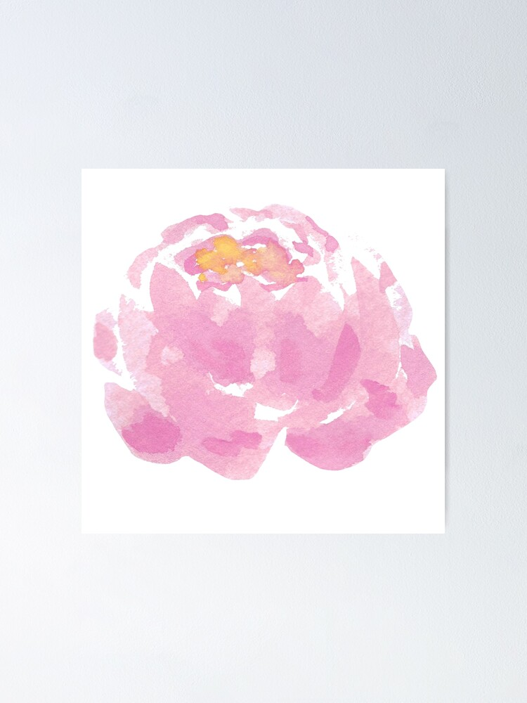 The Peony Drawing Flower Hand Drawn Peony Isolated Poster By Vectormarketnet Redbubble
