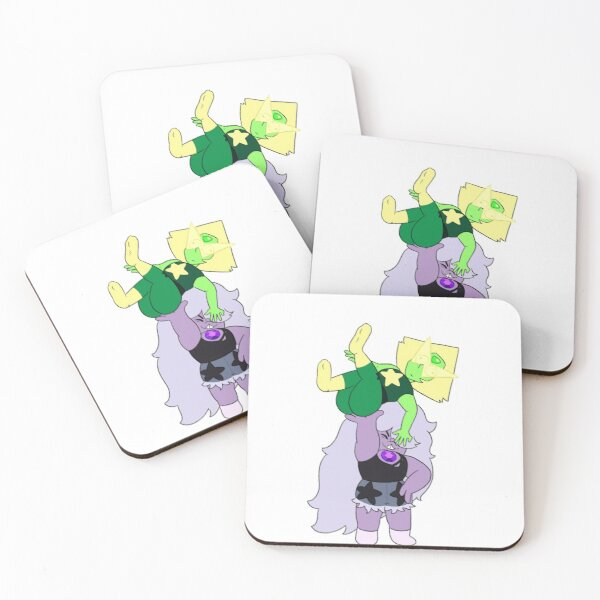 Amethyst and Peridot Coasters (Set of 4)
