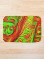 Green and red abstraction Bath Mat