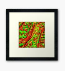 Green and red abstraction Framed Print