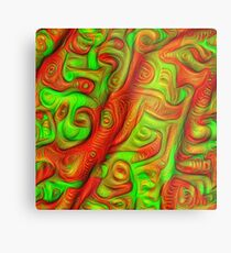 Green and red abstraction Metal Print