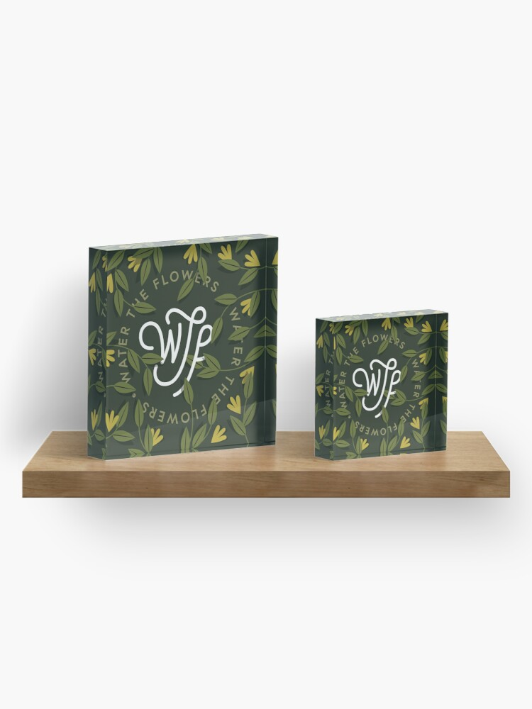 Alternate view of WTF / Water The Flowers - Illustrated Lettering Acrylic Block