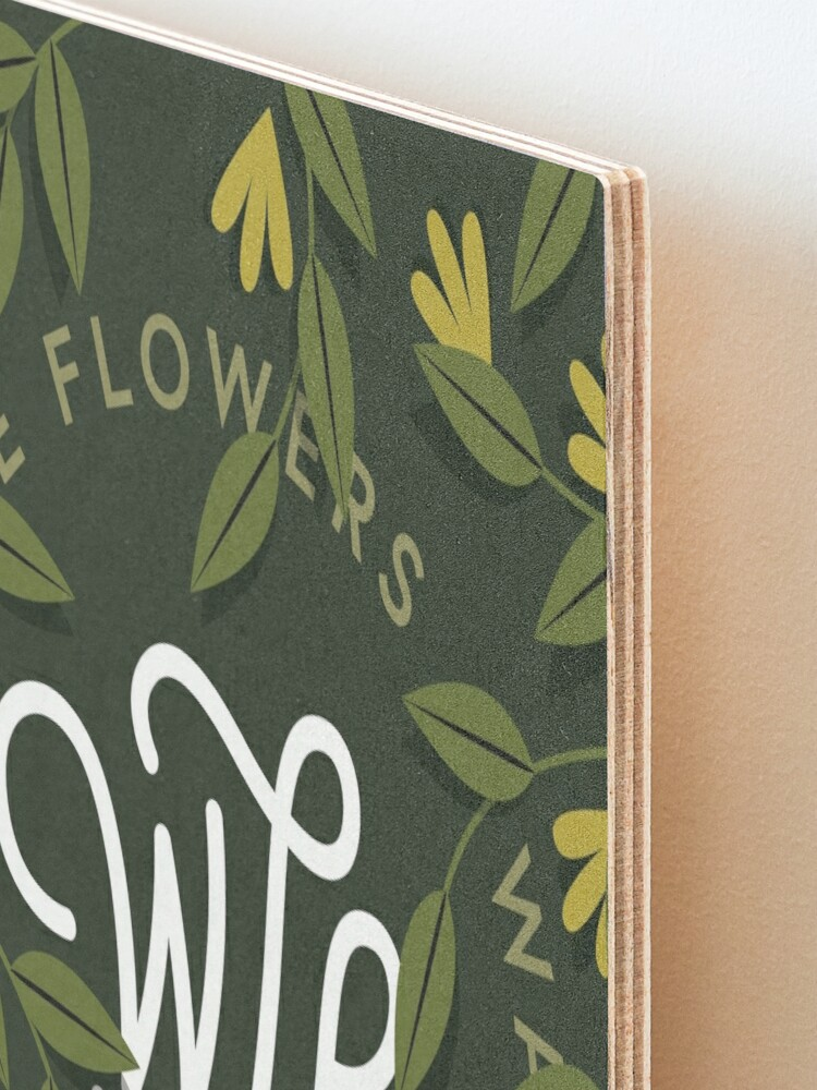Alternate view of WTF / Water The Flowers - Illustrated Lettering Mounted Print