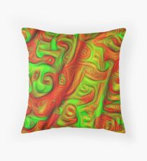 Green and red abstraction Floor Pillow
