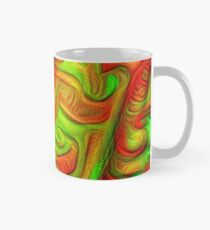 Green and red abstraction Classic Mug