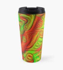 Green and red abstraction Travel Mug