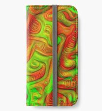 Green and red abstraction iPhone Wallet/Case/Skin