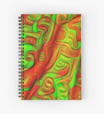 Green and red abstraction Spiral Notebook
