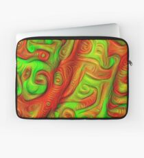 Green and red abstraction Laptop Sleeve