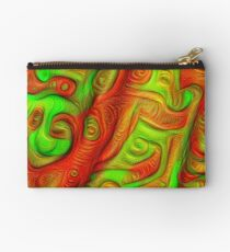 Green and red abstraction Zipper Pouch