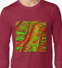Green and red abstraction Long Sleeve T-Shirt