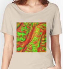 Green and red abstraction Relaxed Fit T-Shirt