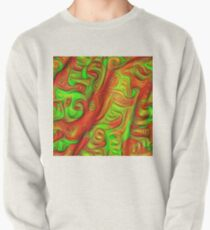 Green and red abstraction Pullover Sweatshirt
