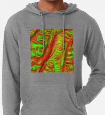 Green and red abstraction Lightweight Hoodie