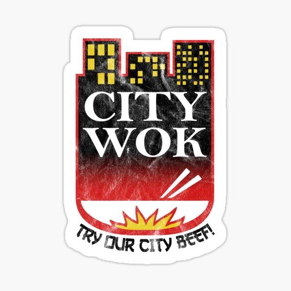City Wok logo inspired by South Park  Sticker