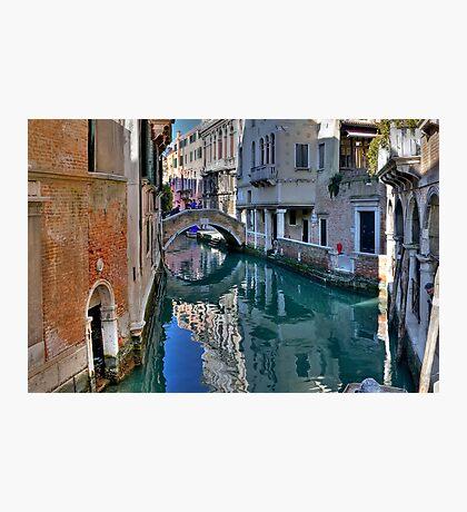 Rio and Bridge de Ca' Widman - Venice Photographic Print