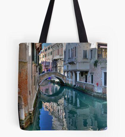 Rio and Bridge de Ca' Widman - Venice Tote Bag