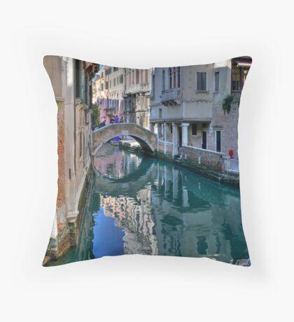 Rio and Bridge de Ca' Widman - Venice Throw Pillow