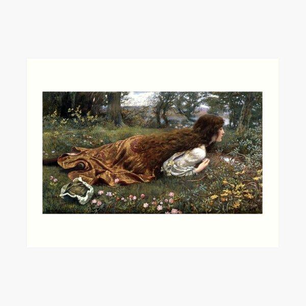 The Princess Out of School - Edward Robert Hughes Art Print