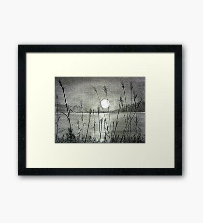 Sunset Over Pamlico Sound Framed Print