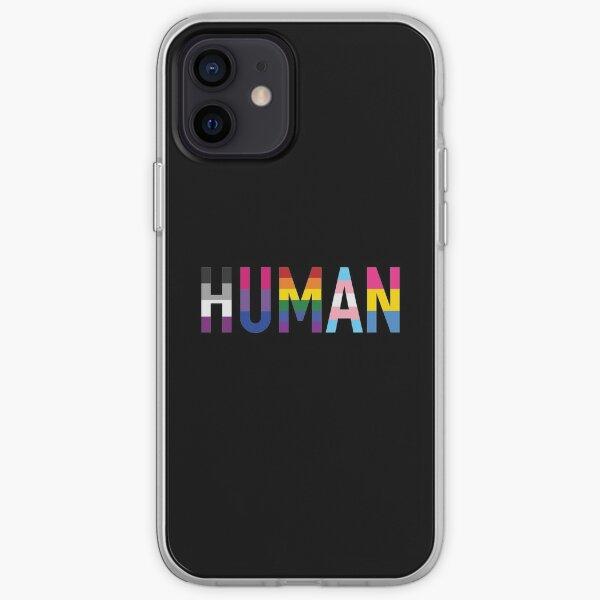 Humain, divers drapeaux queer 1 Coque souple iPhone